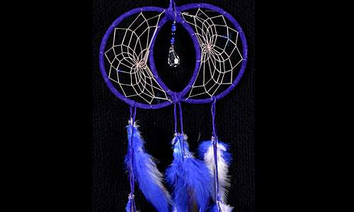 Blue Soul Connection Dream Catcher with Swarovski crystal
