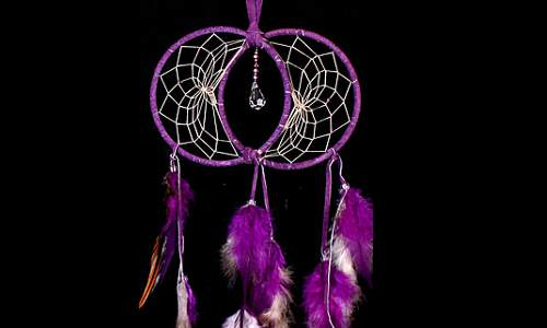 Purple Soul Connection Dream Catcher with Swarovski crystal