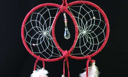 Pink Soul Connection Dream Catcher with Swarovski crystal