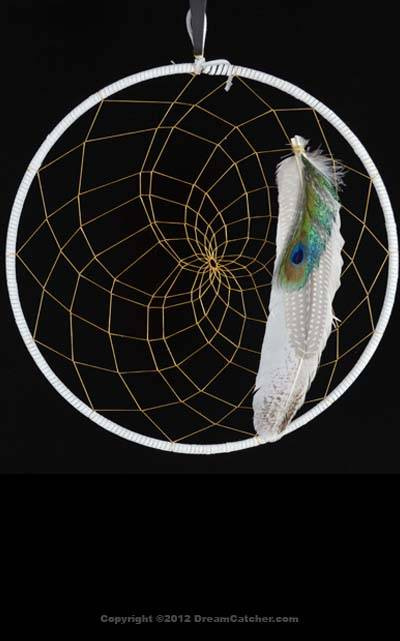 Large White Dream Catcher (12 inch)