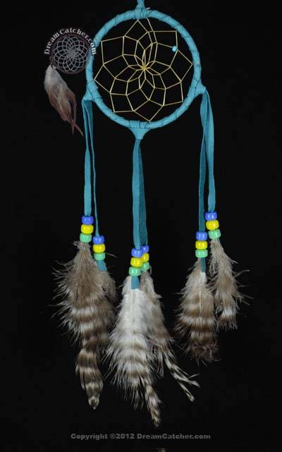 Authentic 3 Inch Navajo Dream Catcher With Glass Beads