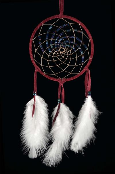 Burgundy 5 Inch Northern Lights Dream Catcher