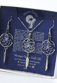 Dreamcatcher Earrings and pendant set