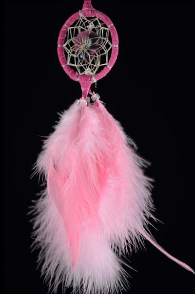 Pink Protect the Earth DreamCatcher (2 inch)