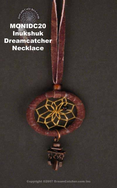 Inukshuk dreamcatcher necklace