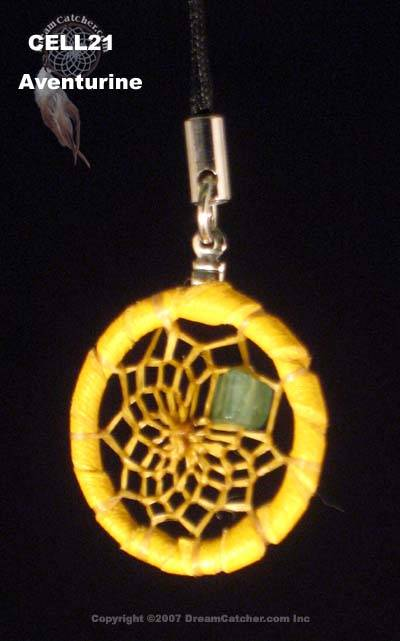 Cell phone charm with adventurine