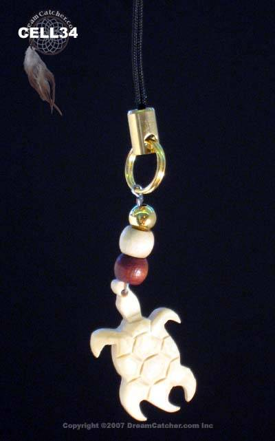 Turtle totem cell phone charm