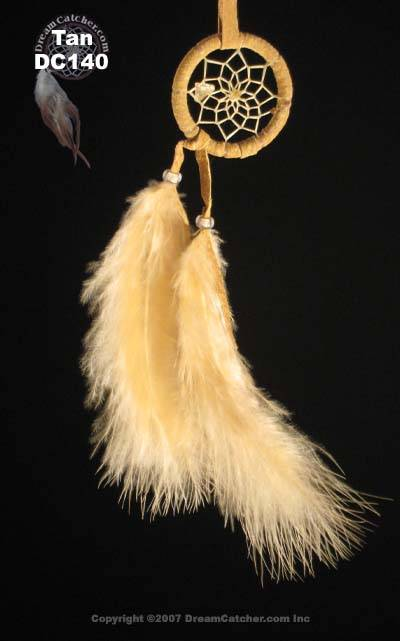 Cascade Dream Catcher with Glass Beads and Turkey Feathers