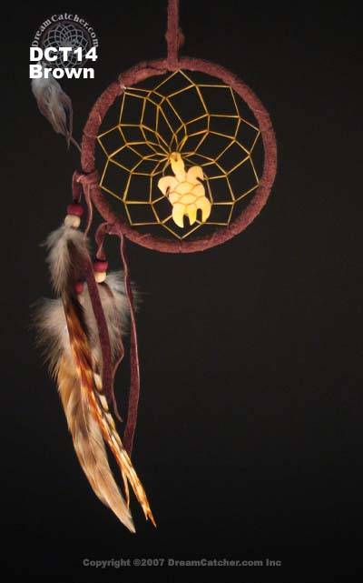 Turtle Totem Dreamcatcher   (3 inch)