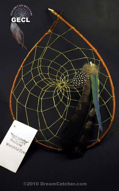 Cherokee style Red Willow Dream Catcher (large)