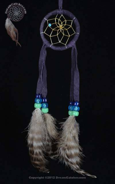 Authentic 2 Inch Navajo Dream Catcher With Glass Beads