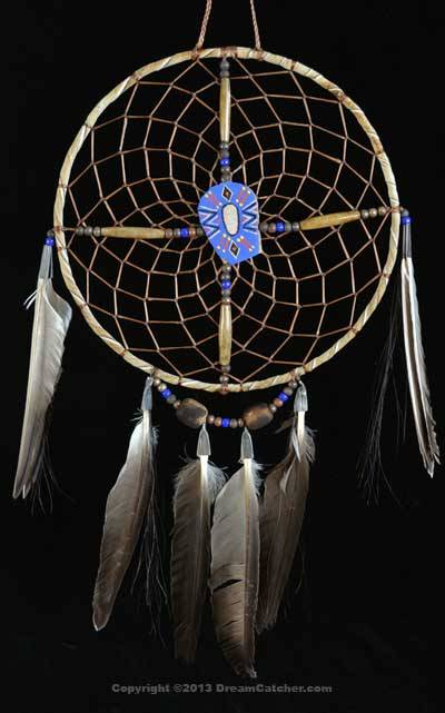 Navajo Spirit Wheel With Blue Painted Center (8 Inch)