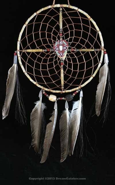 Navajo Spirit Wheel With Red Painted Center (6 Inch)