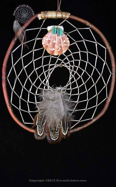 Authentic Red Willow Dreamcatcher with Turquoise And Shell