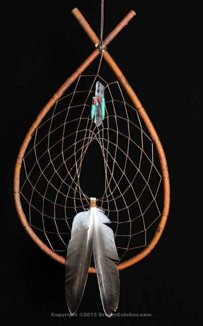 Red Willow Tee Pee Dream Catcher With Crystal, Coral & Turquoise Bundle