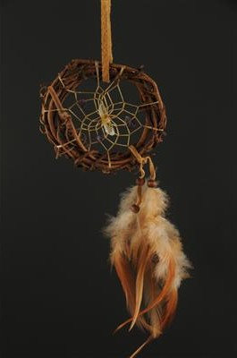 Grapevine Dream Catcher with semi-precious stones (3 inch)