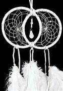 White Soul Connection Double Dream Catcher