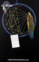 Gray Elk Seminole Style Weave Dream Catcher (9 inch)