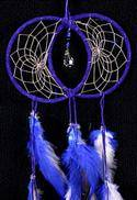 Blue Soul Connection Double Dream Catcher