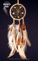 Natural Dream Catcher with Hackle and Pheasant feathers (2.5 Inch)