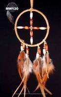 Bamboo and wood beaded tan Medicine Wheel