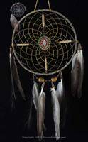 Navajo Spirit Wheel With Black Painted Center(8 Inch)