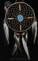 Navajo Spirit Wheel With Blue Painted Center (6 Inch)