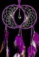 Purple Soul Connection Double Dream Catcher