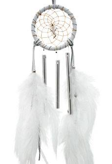 White Dream Catcher Spirit Chimes