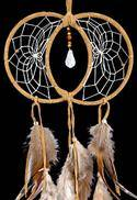Tan Soul Connection Double Dream Catcher