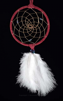 Burgundy Northern Lights Dream Catcher (4 Inch)