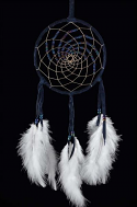 Black  5 Inch Northern Lights Dream Catcher